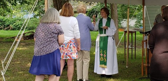 Worship Mass in the Grass at St. Paul's Owego, NY